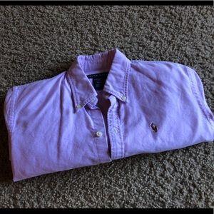 Ralph Lauren Lavender Button down, size 2